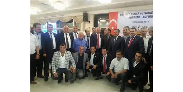 Çiçekdağı esnaf odası Karadeniz Bölgesi iftar programına katıldı