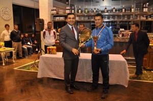 Tenis turnuvası ödül töreni yapıldı