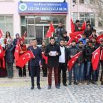 ÜNİVERSİTE ÖĞRENCİLERİ TERÖRÜ PROTESTO ETTİ (ENDERHAN ÖZ/KIRŞEHİR-İHA)