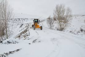 Kırşehir'de Ulaşıma kar engeli