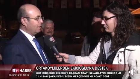 CHP KIRŞEHİR BELEDİYE BAŞKAN ADAYI SELAHATTİN EKİCİOĞLU ART TV'YE DEMEÇ VERDİ