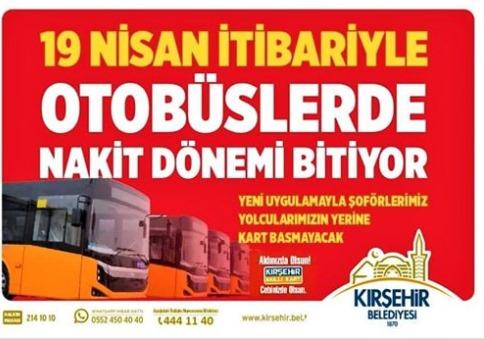 Belediye Otobüslerinde Para Dönemi Bitti!
