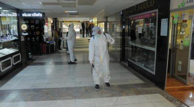 Kırşehir Belediyesinden Esnafa Dezenfekte Desteği