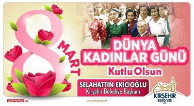 Başkan Ekicioğlu Kadınlar Gününü Kutladı