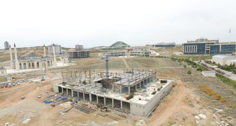 KAEÜ Merkez Kütüphane inşaatının yüzde 20'si tamamlandı