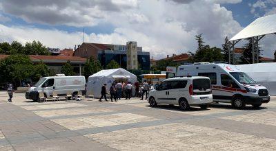 Cacabey Meydanına Aşı Seferberliği İçin Çadır Kuruldu