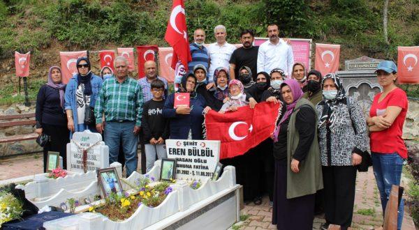 """Kardeşlik Gezisi""""nde şehit Eren Bülbül'ün ailesine ziyaret"""