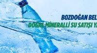 Bozdoğan Belediyesinden doğal mineralli su satışı