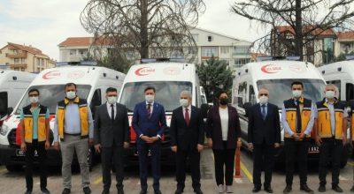 İl Sağlık Müdürlüğü Bünyesine 5 Yeni Ambulans Kattı