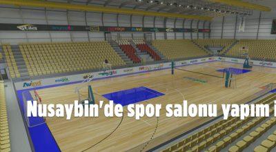 Nusaybin'de spor salon yapım ihalesi