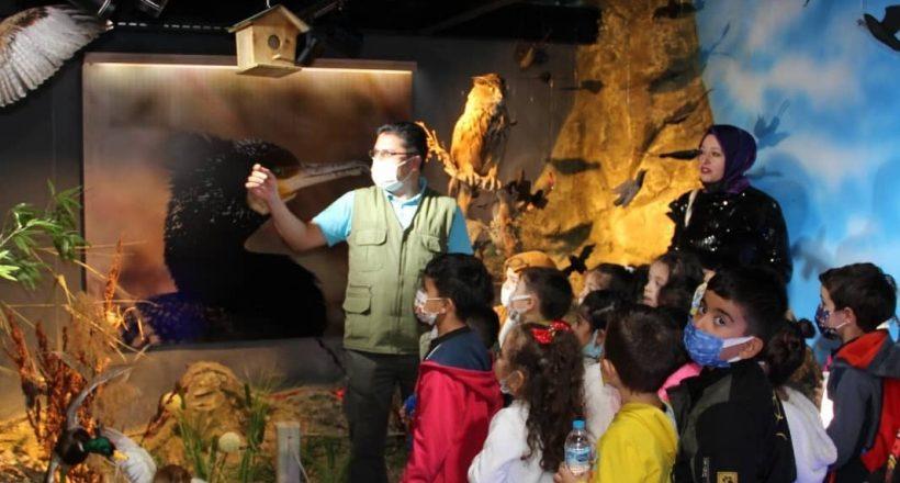 Kırşehir'de Tabiat Müzesi'ne öğrenciler ilgi gösteriyor