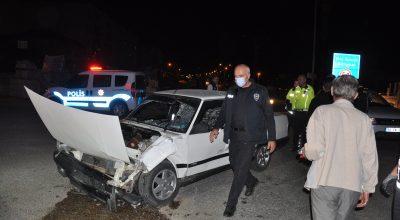 Kırşehir'de su kanalına düşen aracın sürücüsü yaralandı