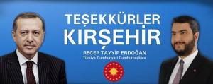 Abdullah Çalışkan Kırşehir halkına teşekkür etti