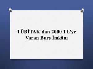 Temel Fen ve Sosyal Birimi seçen öğrenciye 2000 TL bursluluk