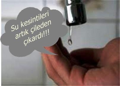 Su sıkıntısı vatandaşı çileden çıkardı!