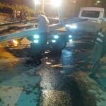 Motosiklet arabaya çarptı: 1 yaralı